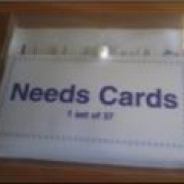 needs cards. restorative training materials
